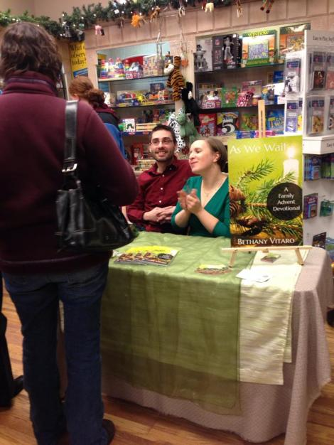 Rob keeping me company at my book signing. (photo taken by Kinsey Gensel)